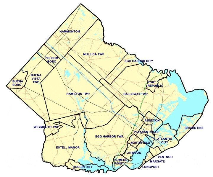 South Jersey Italian Organizations NJ Italian Heritage Commission - South jersey map