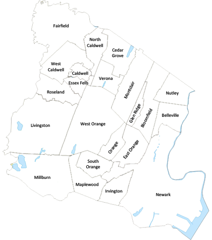 North Jersey Italian Organizations NJ Italian Heritage Commission - North jersey map