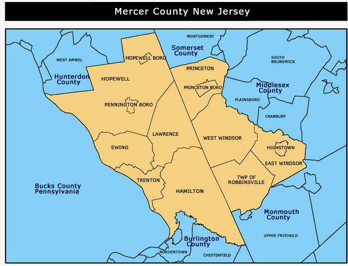 Fourth image of Hamilton County Nj with Burlington County Municipalities Map - NJ Italian Heritage ...